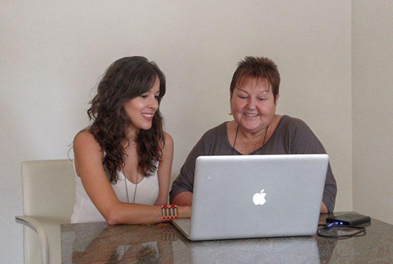 ANNA & GEMMA WORKING ABOUT WEBSITE